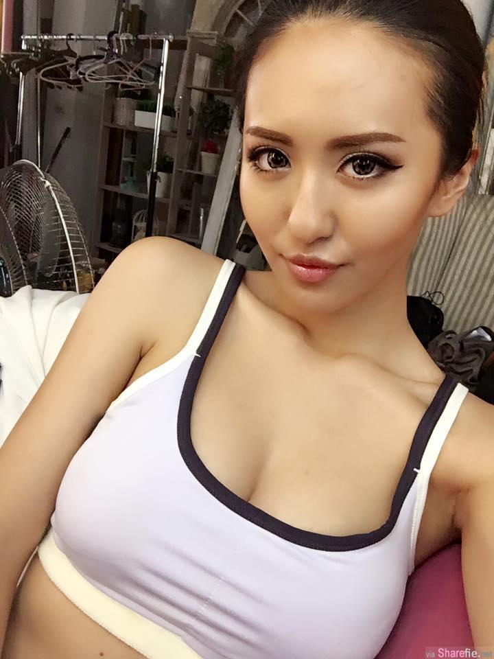台湾正妹林嘉凌Rebaccarry Lin火辣身材,迷人线条及傲人上围