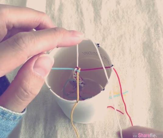 她只用了一个纸杯,就让全球「你的名字」粉丝们都在疯的结绳DIY变得好轻松