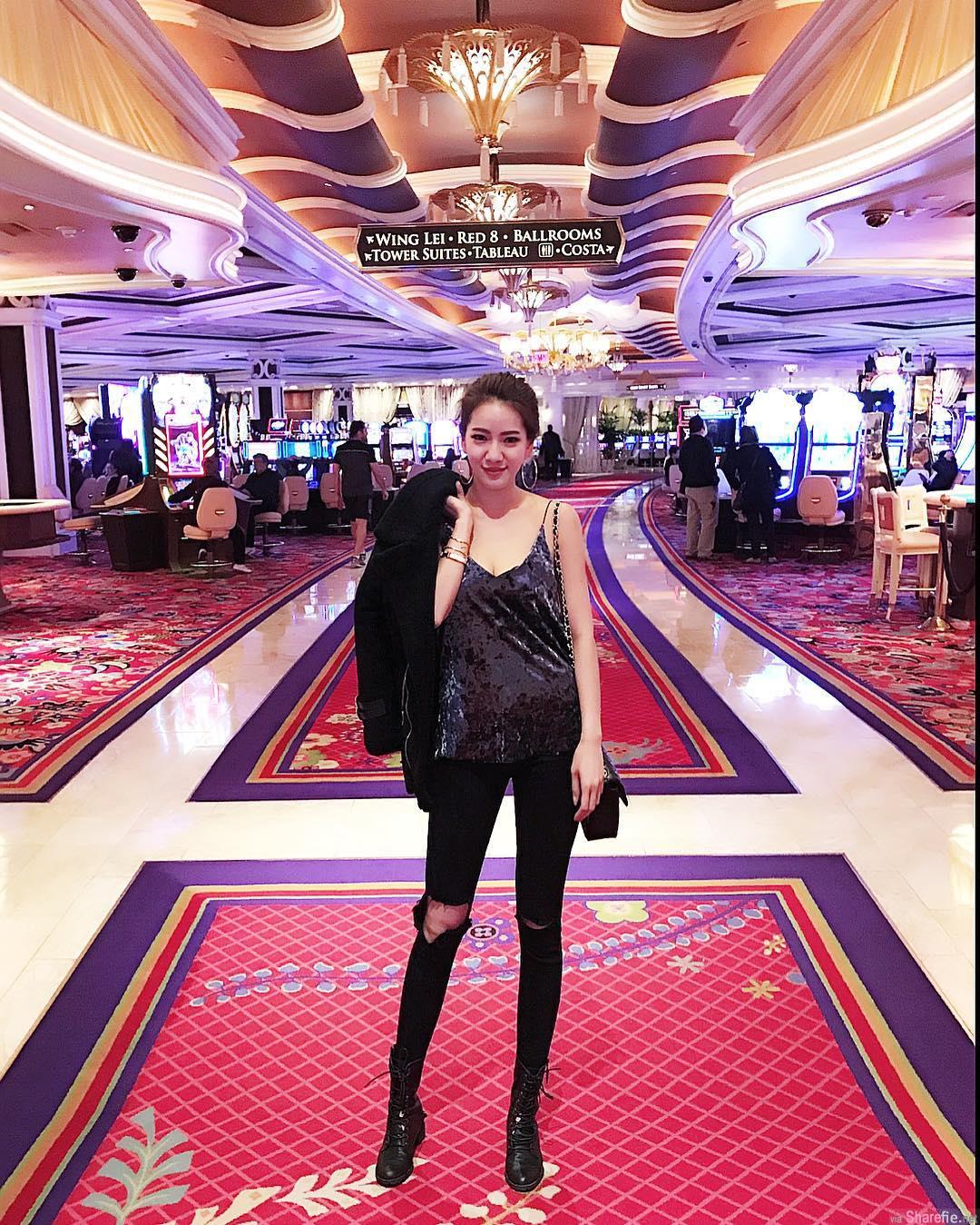 台湾长腿空姐 Michelle ,穿上低胸吊带到美国赌城夜店,结果遇到...