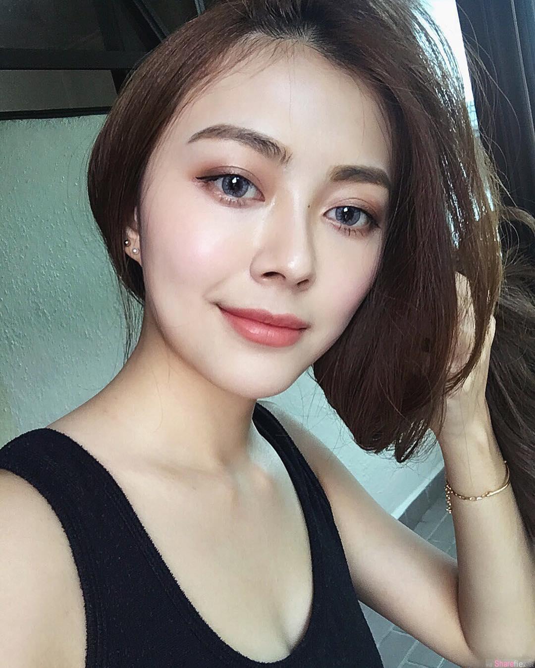 大马正妹 Kyona Teo 清新甜美白嫩大腿 网友:难得一见极品