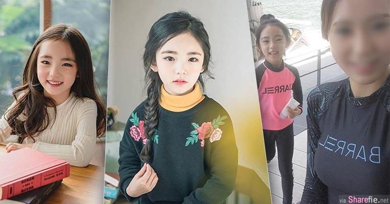韩国6岁空灵小萝莉让网友愿意等她10年 当妈妈现身才知道这基因有多么的强大