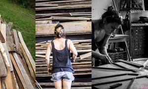 她到处收集废木材 看似一文不值的烂木被他这样拼凑,出来的作品让人乖乖的掏钱出来