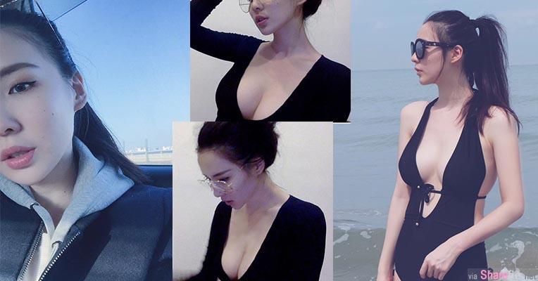 爆乳正妹Lizzie Chen中空大开雪白深沟引入注目