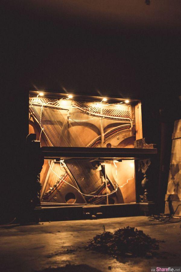 他把别人不要的「百年古董钢琴」进行改造 出来的成品让人眼前一亮