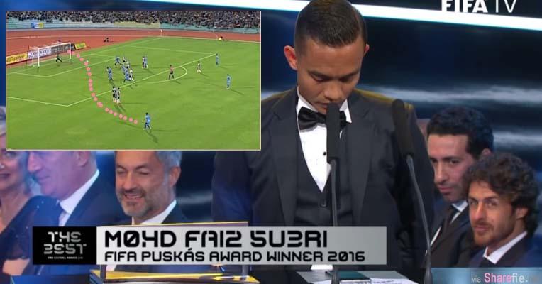 大马之光! 逆天自由球荣获2016 FIFA最佳进球 当他上台致辞却发生小插曲