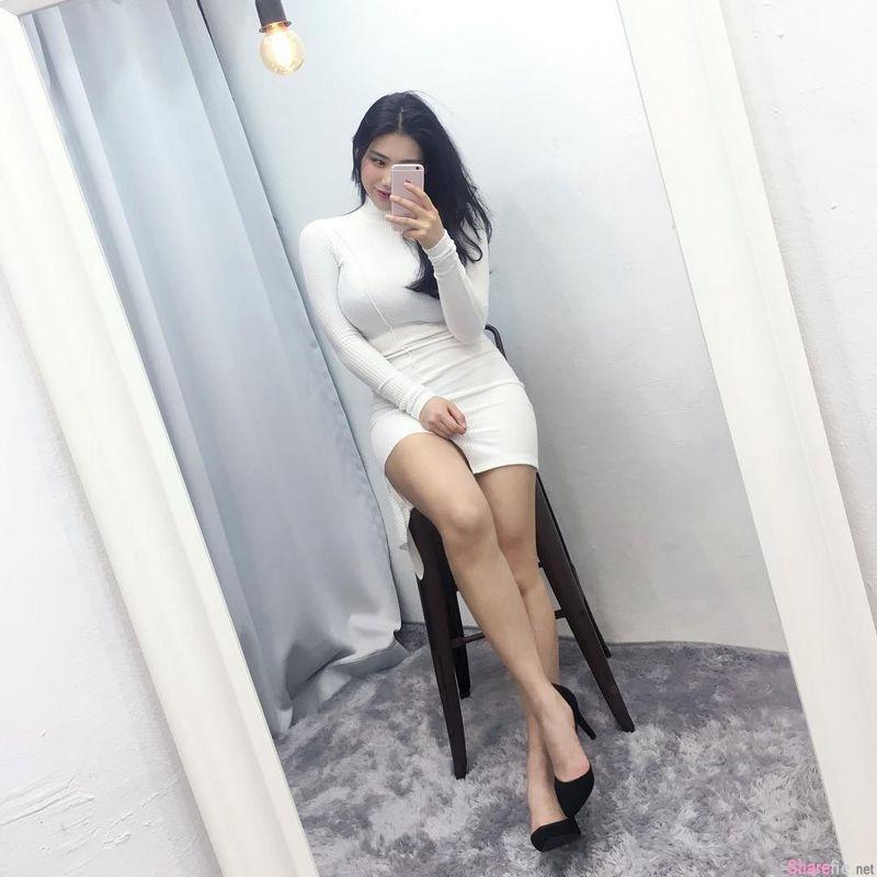 韩国网店老闆娘 身材实在太火辣只好自己当model