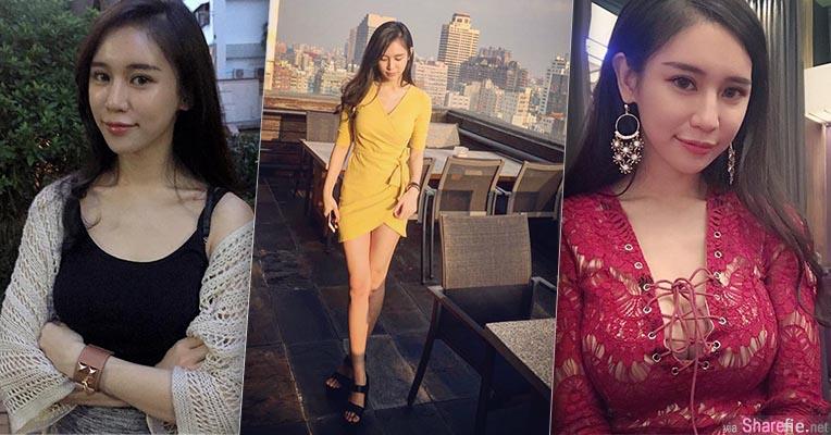 台湾长腿超兇正妹,红色上衣网不住的好身材