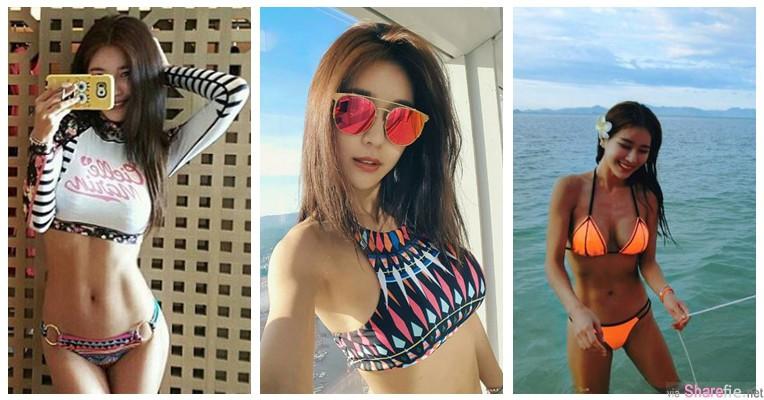 韩国正妹parkSi-Hyun朴是炫身材棒棒der还有迷人腹肌