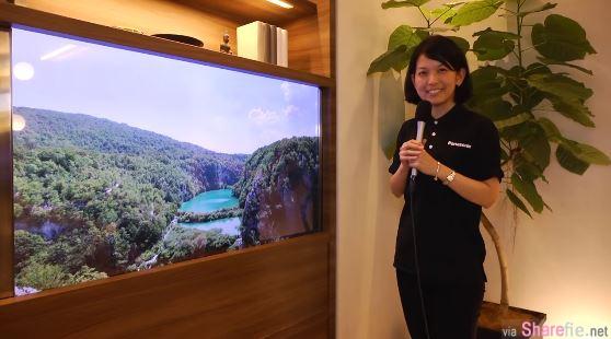 未来的电视!日本Panasonic推出「隐形」电视让你感觉不到它的存在