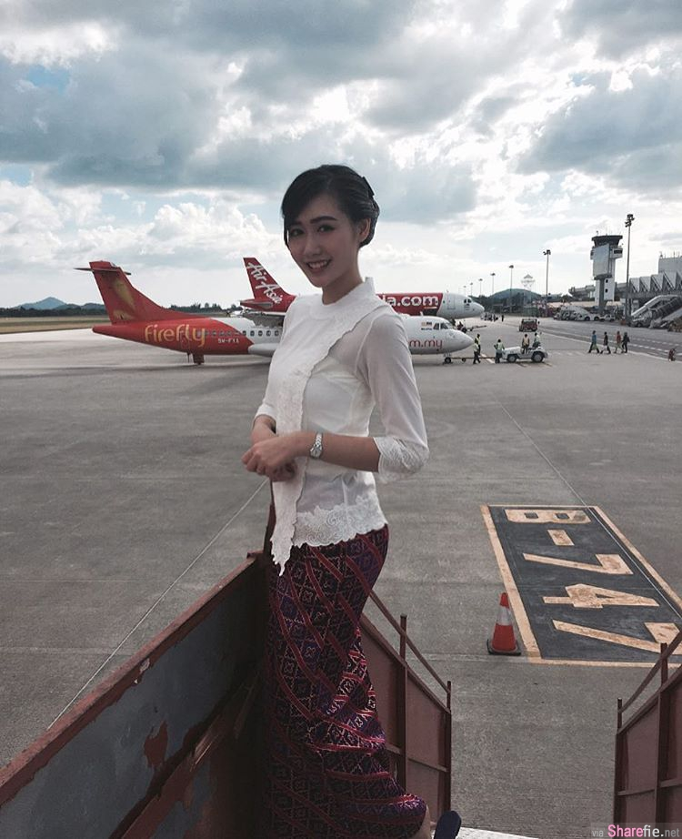 大马空姐正妹 Ivy Chew高挑甜美笑容让人想搭她飞机