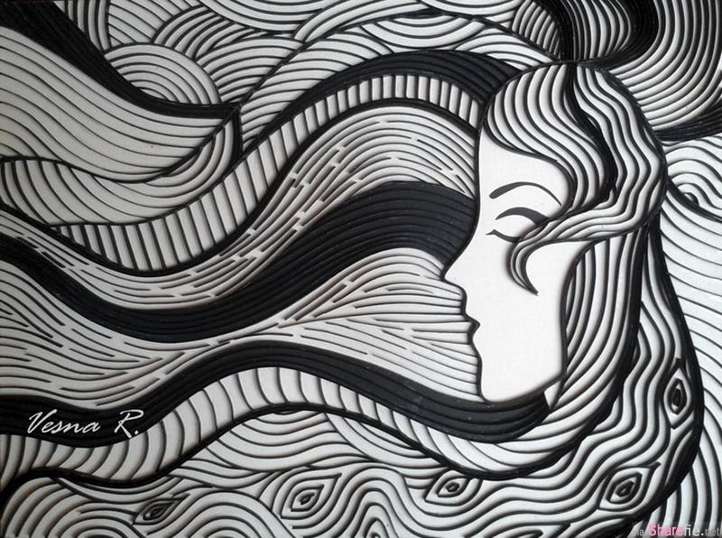 8张用卷纸做出的超绚丽画作 线条与色彩的完美结合