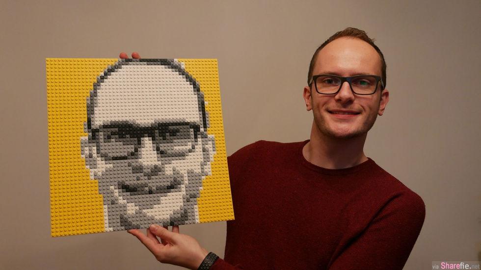 LEGO推出客制化乐高机器 打造自己独一无二的「马赛克」乐高肖像