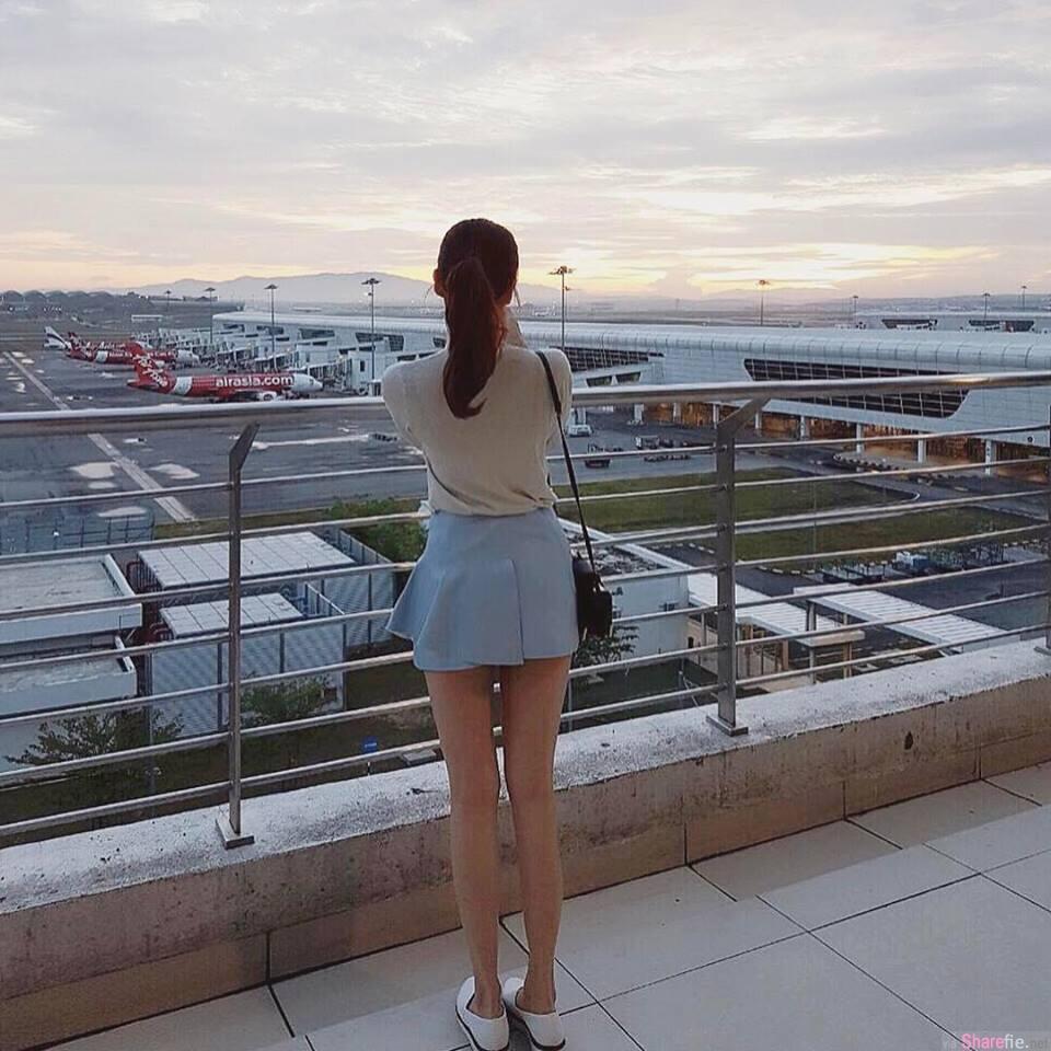 大马机场遇见短裙长腿美眉 一转身....网友:我恋爱了