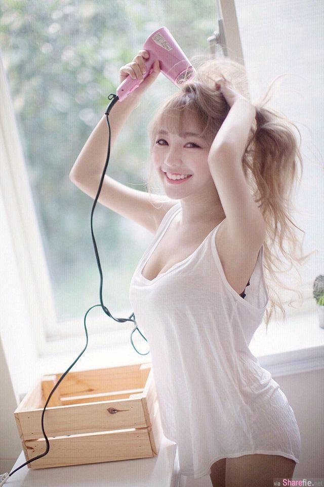 台湾电眼正妹黄琳比基尼照大秀32D好身材让男同学都恋爱了