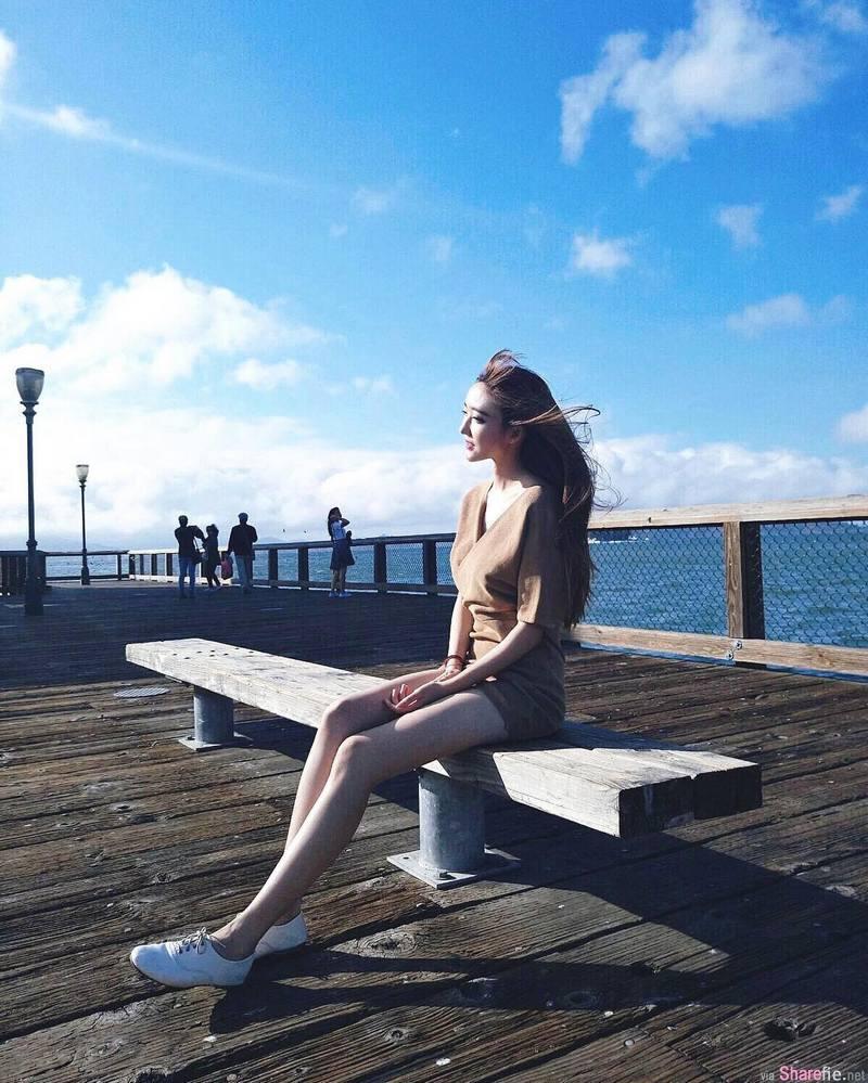 白皙长腿正妹张天怡,光滑修长美腿好刺眼,网:白到发光