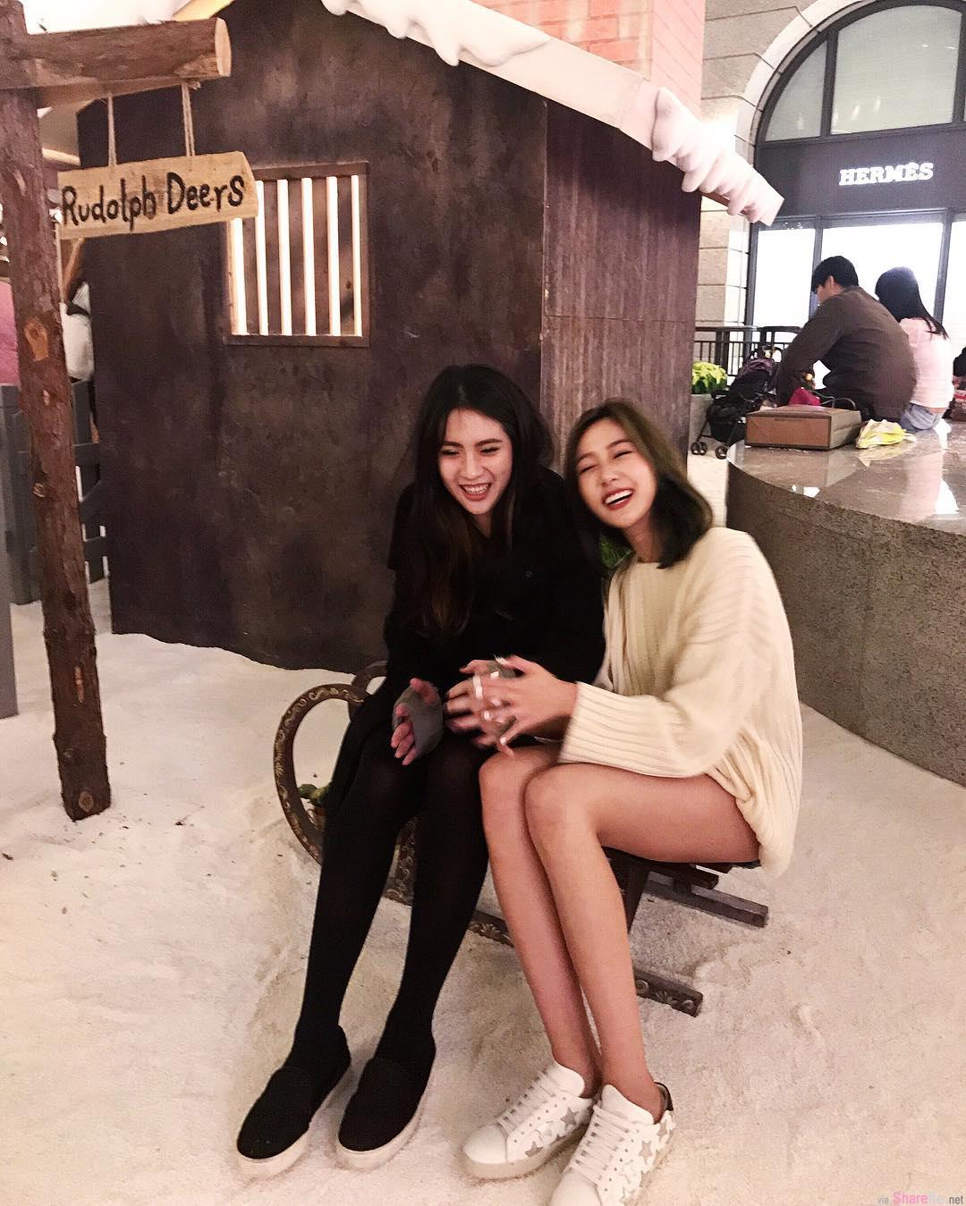 长腿正妹Jennifer Wang超短热裤不只秀美腿连屁屁蛋也露了一下