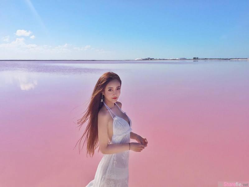 正妹韩江雪 粉红海滩再怎么粉红终究抵不过「不科学」曲线