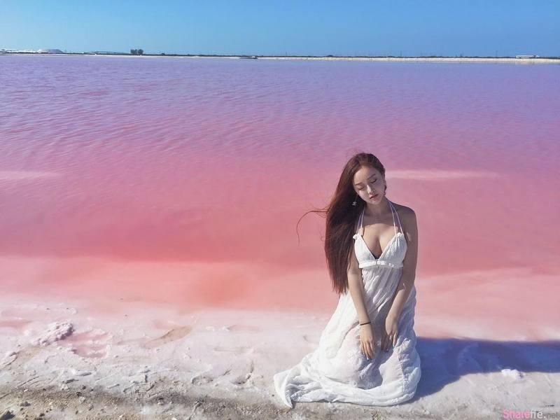 正妹韩江雪粉红海滩再怎么粉红终究抵不过「不科学」曲线