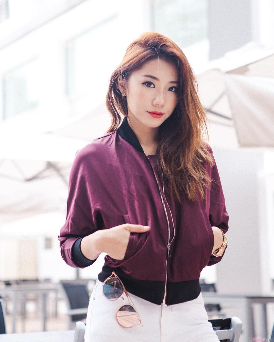 新国博客正妹 Mongchin Yeoh 笑容甜美长腿更迷人