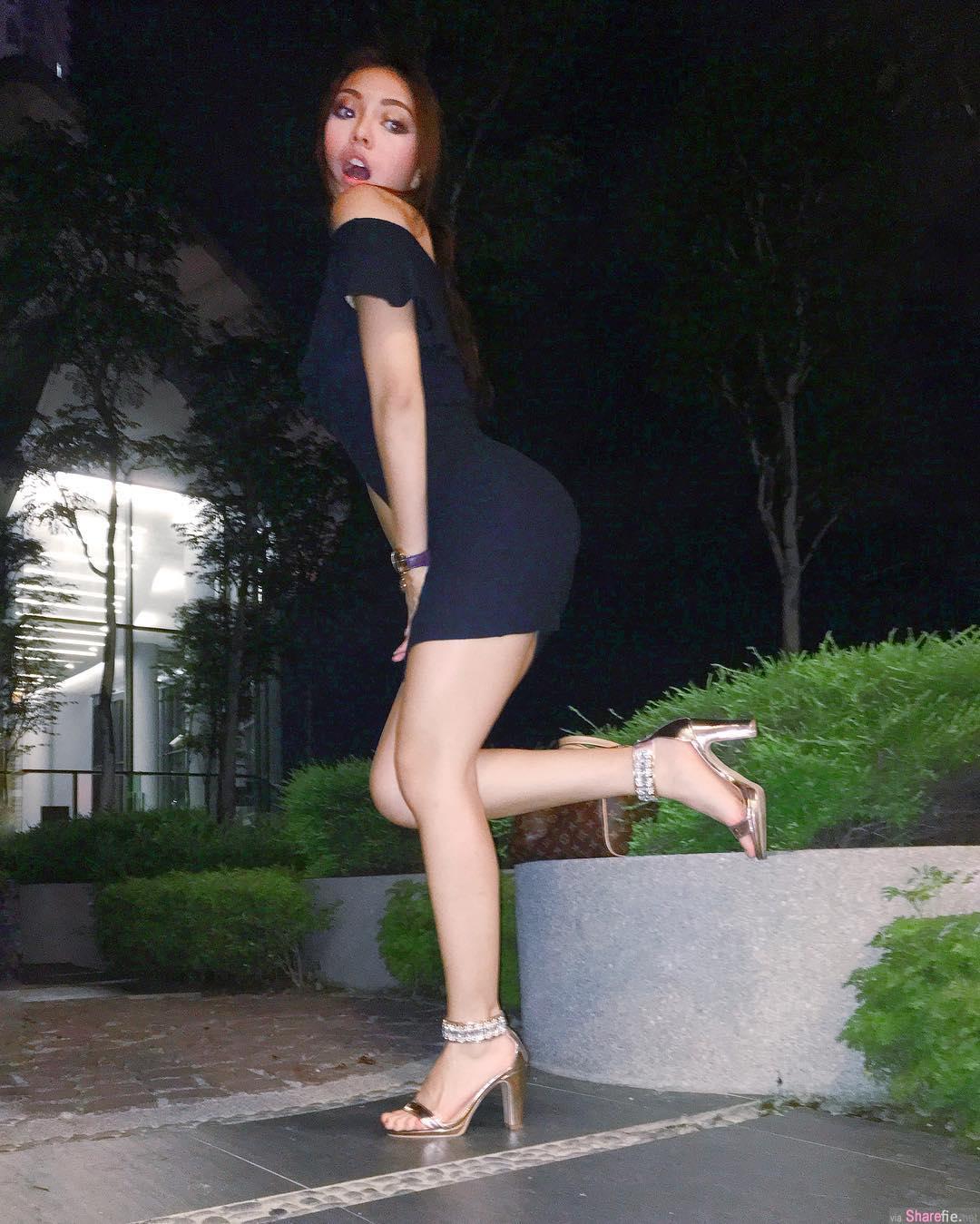 大马翘臀黑美人Jazel Lim,蜜大腿翘臀94狂