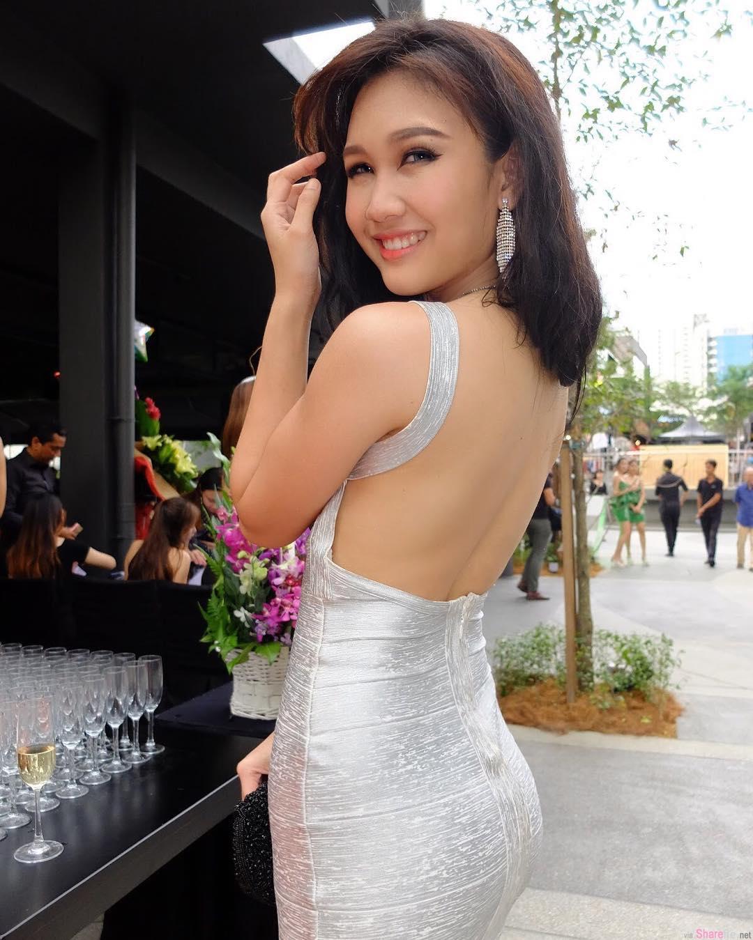 大马选美皇后Janice Tan,性感上空裸背身材惊艳众人