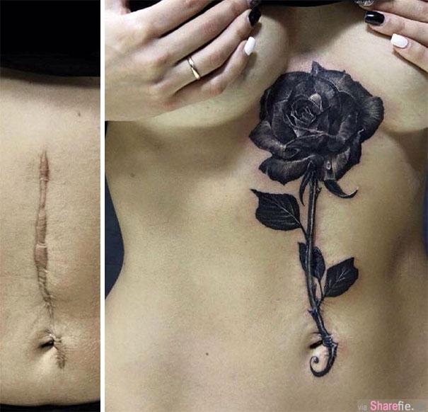 18张刺青艺术巧妙遮盖挥之不去的伤疤