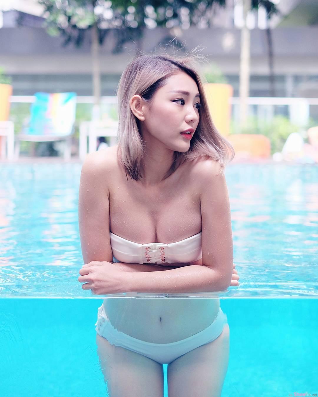 大马正妹 May ho 泳池俯身绝美曲线浮出水面 网:好身材