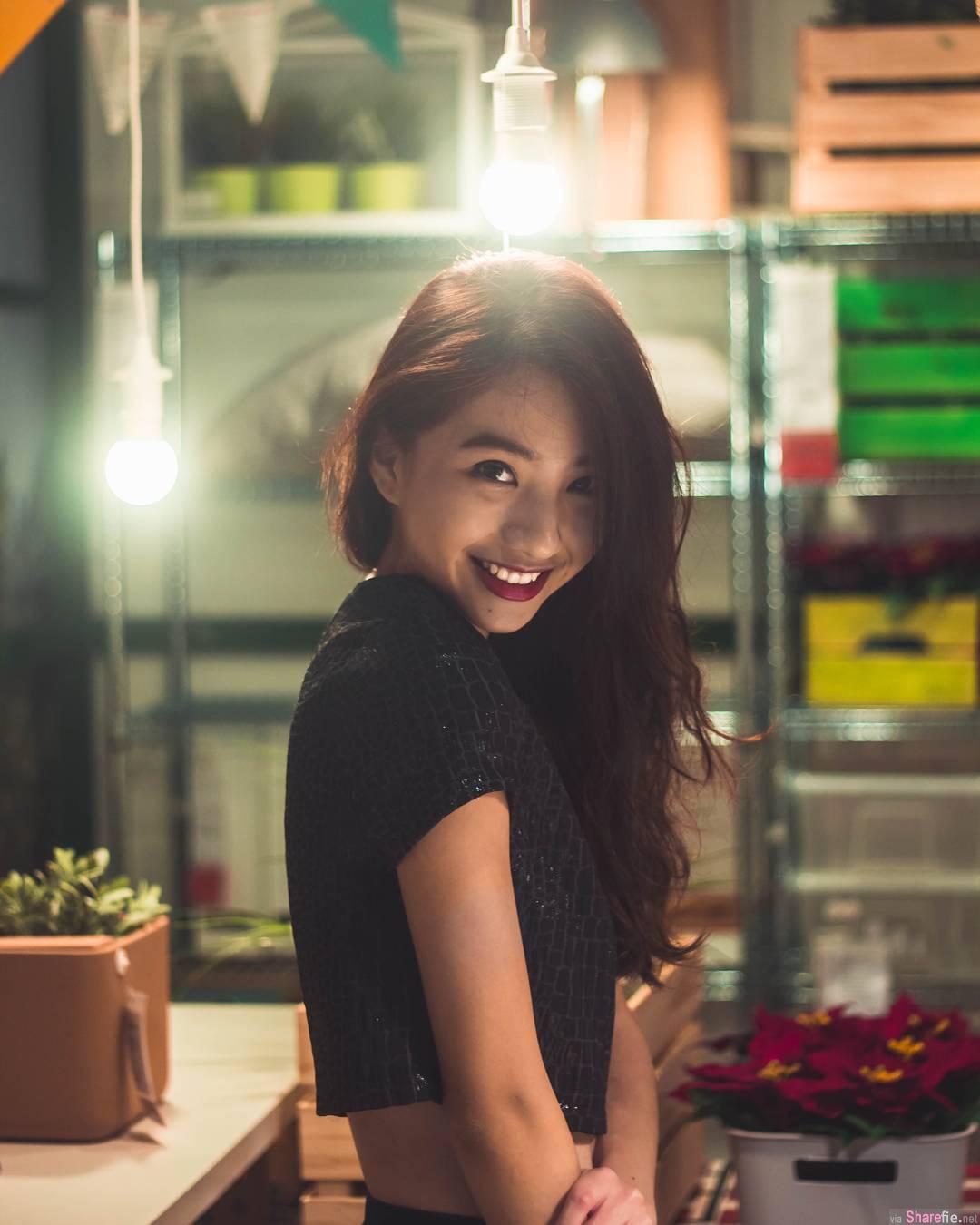 新国微笑正妹Vanessa Ho 天使般的迷人笑容