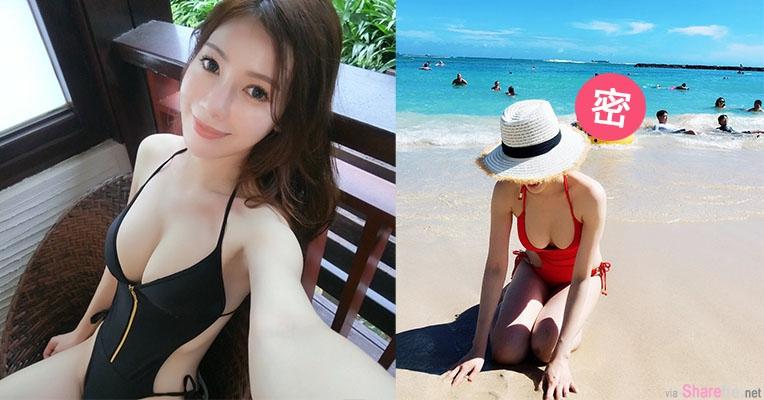 华航空姐正妹Jolina 比基尼大秀雪白美乳,网友发现背后有亮点