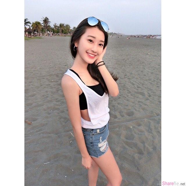 青春校花正妹郑安文,甜美笑容超胸比基尼,网友彻底融化惹