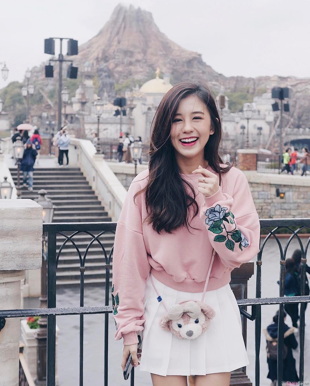 大马正妹KELLY Tan,笑容甜美小清新