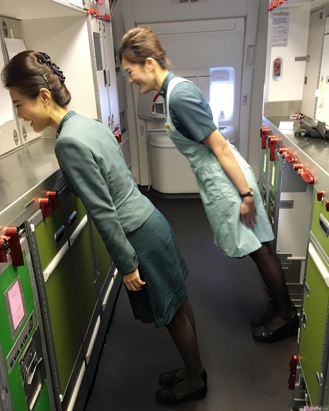 3万英呎高空最美丽的风景,空姐宝林煞到乘客,妳就是我的头等舱