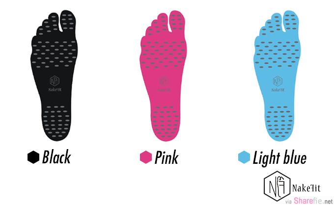 最狂隐形鞋!只要把鞋垫黏在脚板就可以出门了