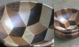 超疗愈的制作过程 原来这个3D木碗是这样做出来的