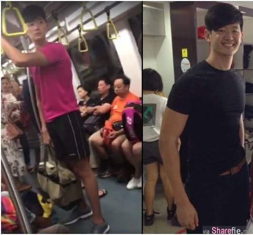 网络疯传新国男子地铁偷拍被抓包 原来他还是一名小学老师(有影片)