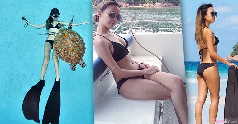 大马潜水正妹Vonney 大海,沙滩,还有性感比基尼