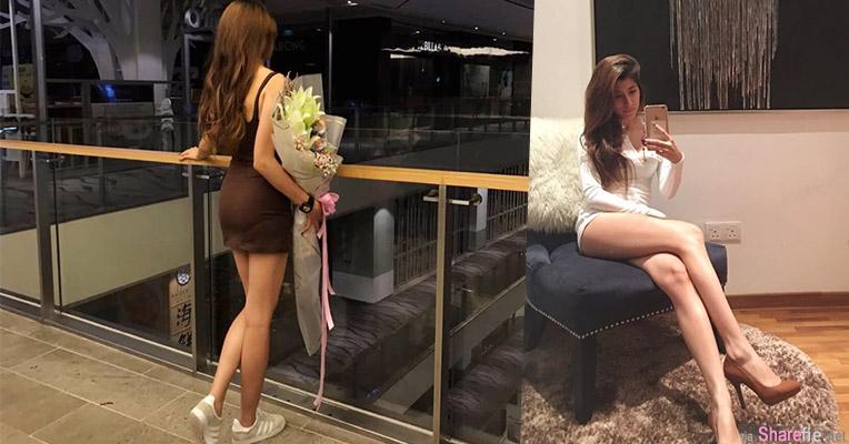 商场发现一名拿着花的女生超吸睛,一转身....网友:我恋爱了