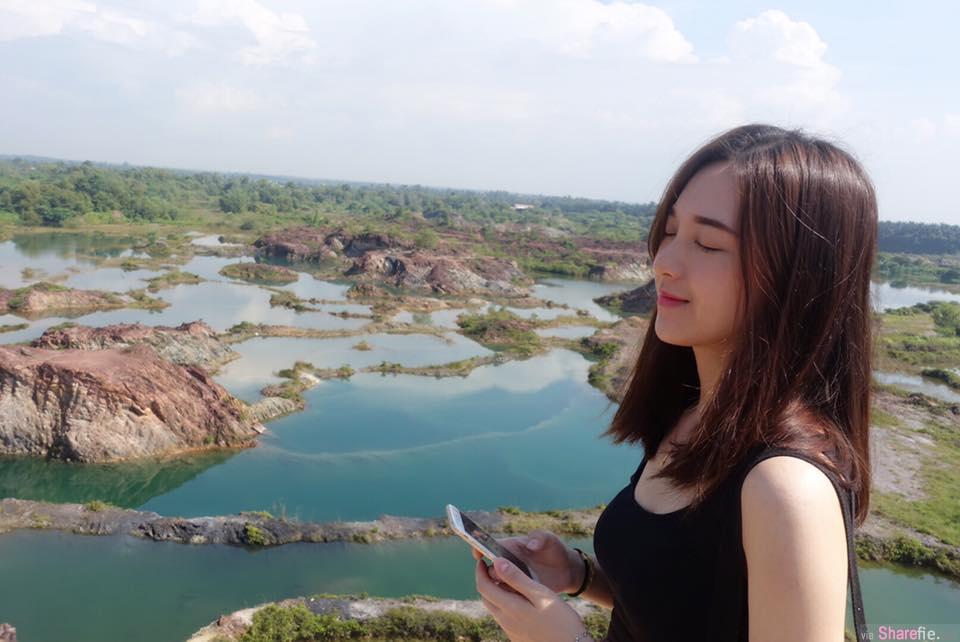 大马正妹Minny Lee分享大马九寨沟美景 网:可我最美的风景全是你