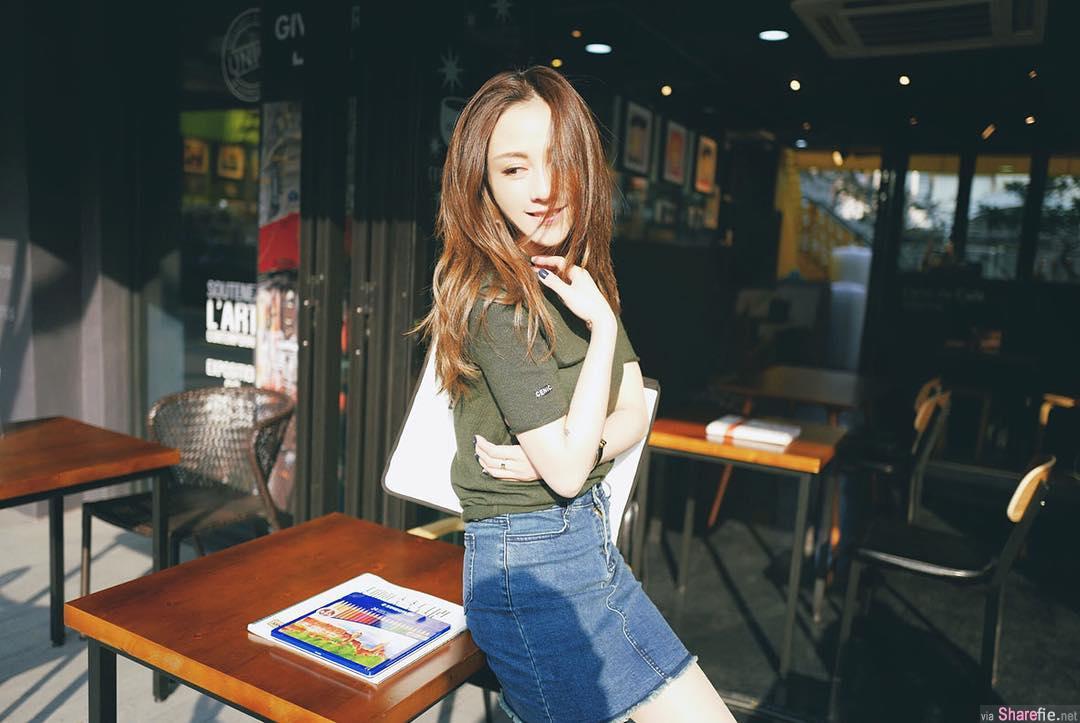 天菜正妹霃,清新甜美IG粉丝竟然只有千5