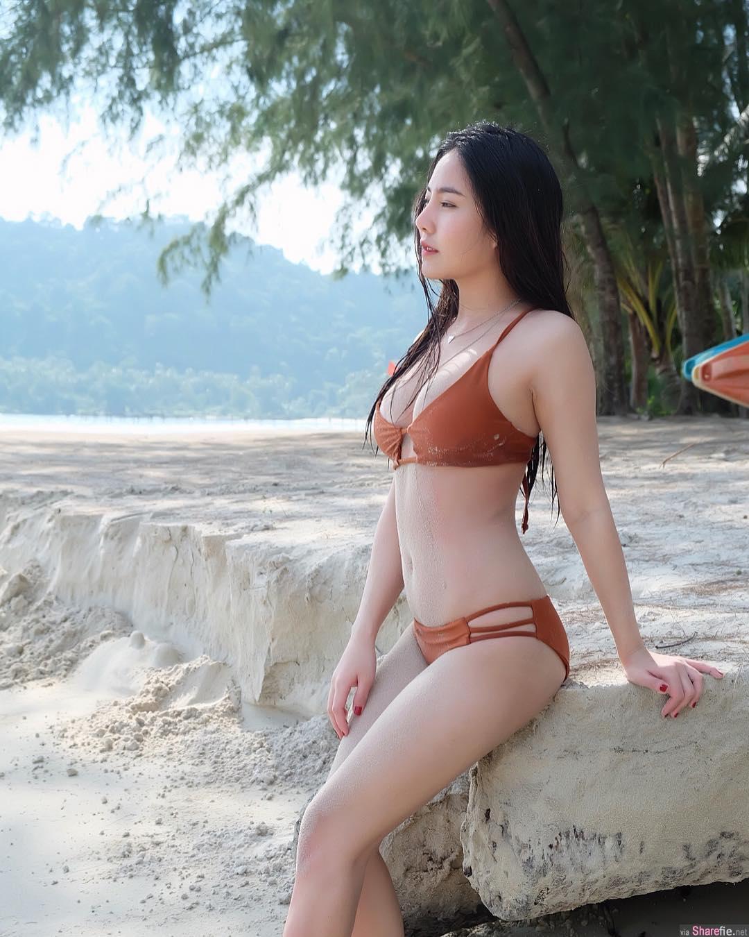 泰国正妹身材白皙明星气质比基尼太抢眼 网友:这基因太强了