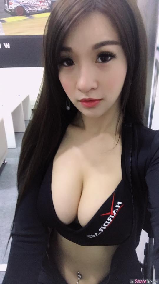 这姿势太犯规!台湾正妹夏语芯,展场闪光灯的焦点