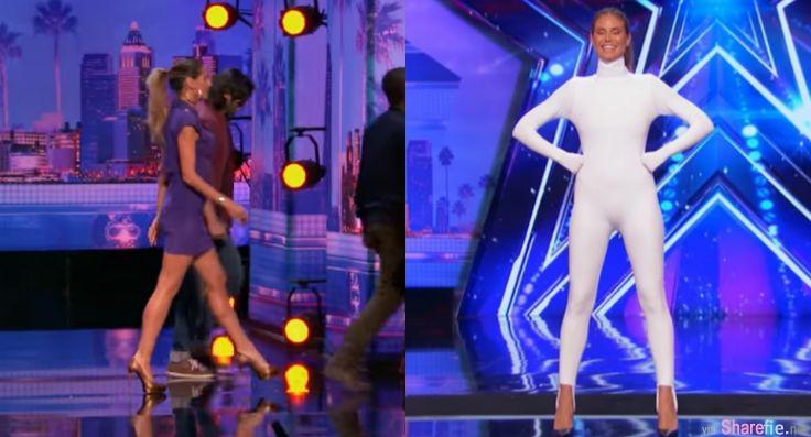 他们邀请超模评审想要借她身体表演 灯光一暗下来全场观众都high了