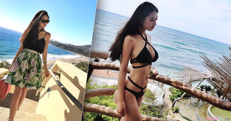 炎热夏天正妹Tina Fong海边度假泳装大解放 网友:壮观雄伟