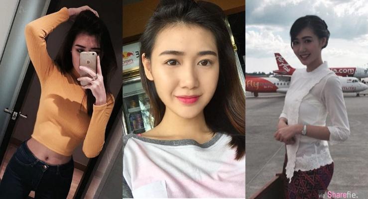 大马空姐正妹Ivy Chew,高挑,甜美笑容让人想搭她飞机