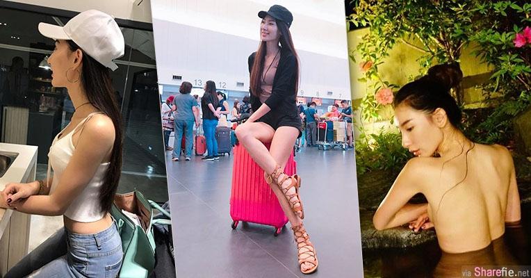 台湾长腿女神何玮珍,这腿不科学,泡澡裸背更吸睛