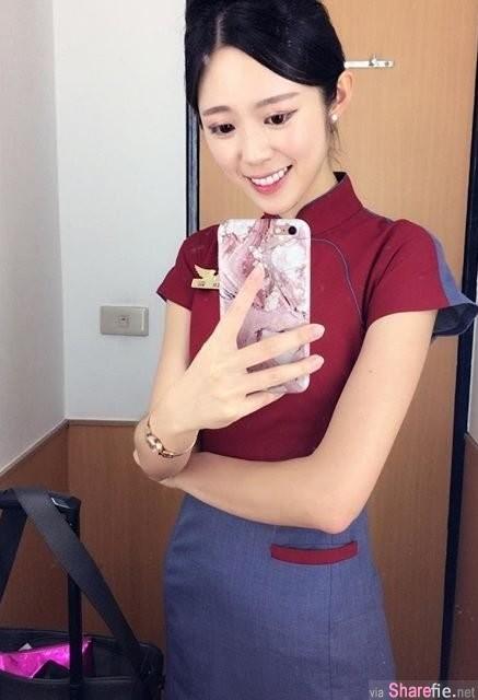 正妹空姐号称华航第一名模,甜美白皙长腿惹人爱