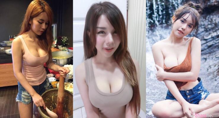 泰国爆乳正妹小吃店老闆娘!兄弟们!组团去吃呗!!!