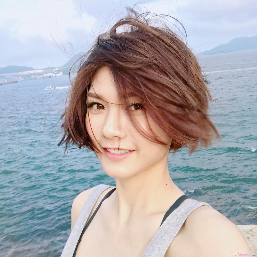 阳光正妹 张沛乐 (沙律) 打拳健身练出好兇器