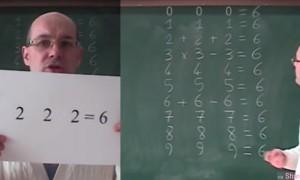 3个2等于6大家不难算出,接下来从0到9也必须等于6的魔法数学题让网友傻眼了