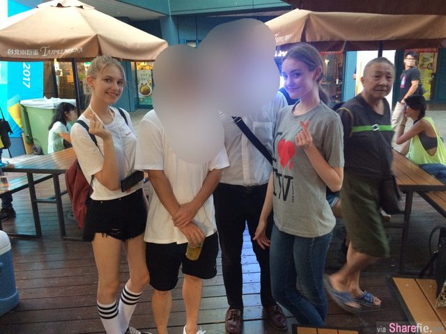 街头巧遇两名「金髮正妹」求合照后悔没有多聊,没想到竟被网友神出3个传送门